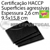 10 Esfregões Scotch Brite Preto 158x95mm