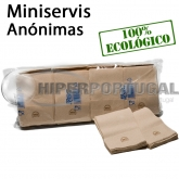16.000 Guardanapos de papel mini servis Nature