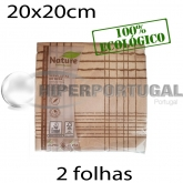2.000 Guardanapos de papel 40x40 Nature Riscas