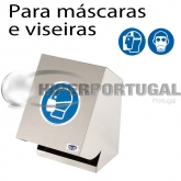 Dispensador de máscaras e viseiras faciais