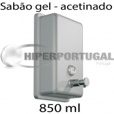 Dispensador de sabão 850 ml inox acetinado