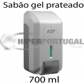 Dispensador Sabão gel prateado 700 ml