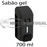 Dispensador Sabão gel preto 700 ml